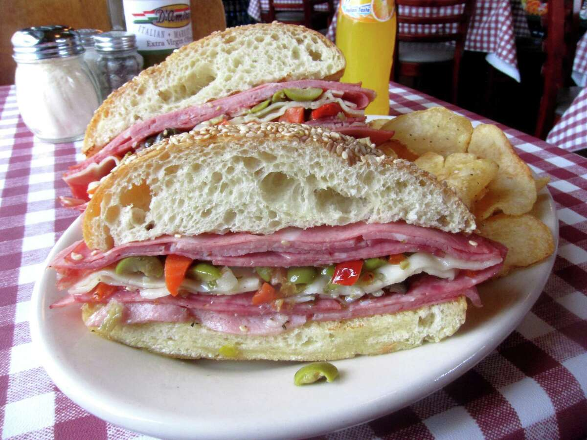 A classic muffuletta sandwich is served at D'Amico's Italian Market Cafe in Rice Village.
