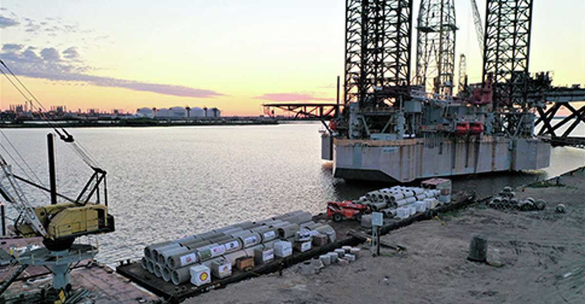 A barge carrying concrete culverts and blocks will take its load to artificial reef HI-20 in the coming days.