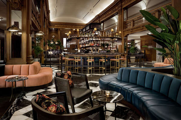 Luxurious new speakeasy-style lobby bar at the Fairmont Olympic in Seattle.
