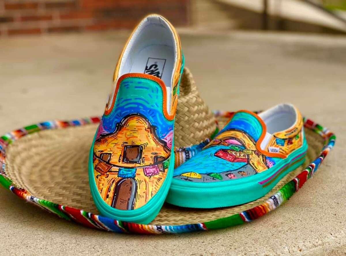 Edison High School student Roger Zamarripa Jr. used the Alamo City's iconic landmarks and signature colors to make the puro design.