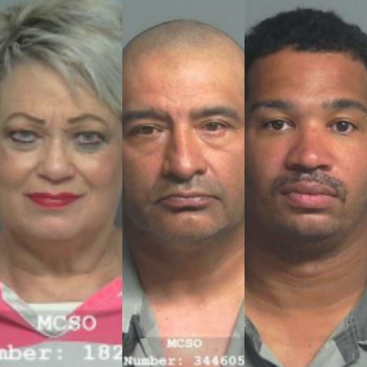 Teresa Joyce Herod, 73, of Willis, Samuel Anthony Saldana, 50, of Baytown, and Christopher Paul Walker, 42, of Conroe, are charged with engaging in organized criminal activity, a second-degree felony.