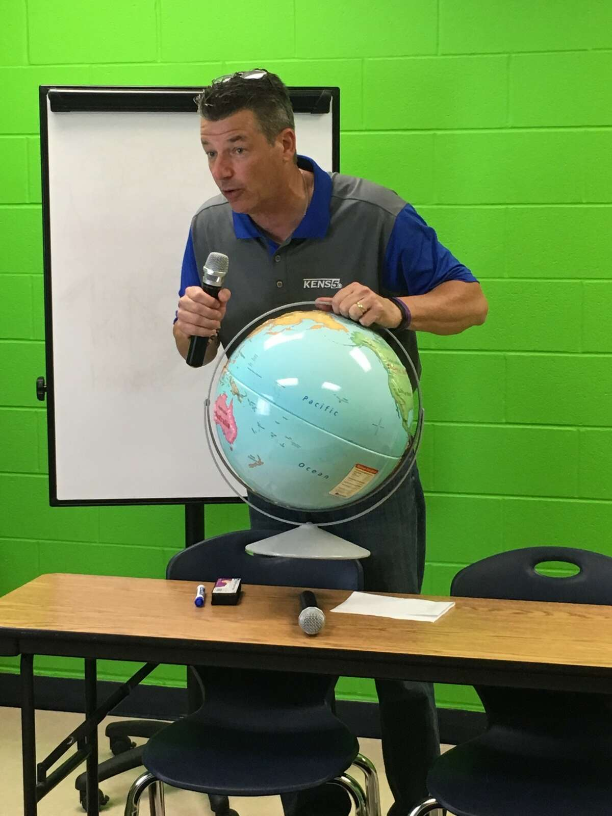 Even when he's not on air, Bill Taylor is still talking weather and science.