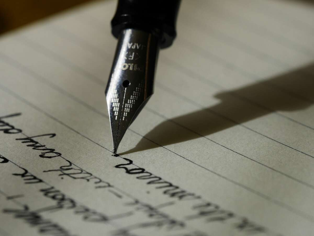Writing cursive was a formality