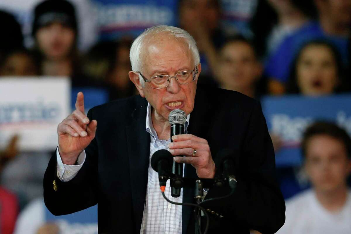 U.S. Sen. Bernie Sanders speaks to supporters during a campaign stop in March 2020 in Phoenix. On Tuesday, he tweeted his support for two local candidates.