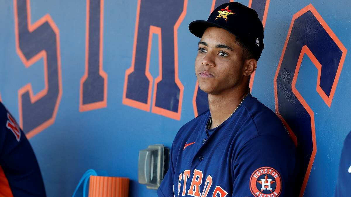 Considered the Astros' heir apparent to shortstop Carlos Correa, Jeremy Peña was assigned to Class AAA Sugar Land.