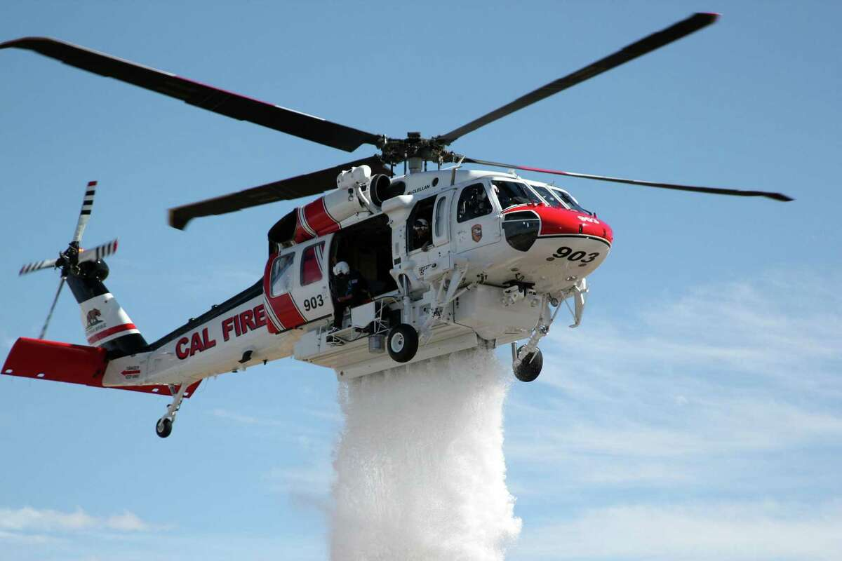 A Sikorsky Firehawk helicopter operated by Cal Fire, one of three Sikorsky delivered in December 2019 including aircraft for firefighter organizations in Los Angeles and San Diego. (Press photo via Sikorsky and Lockheed Martin)