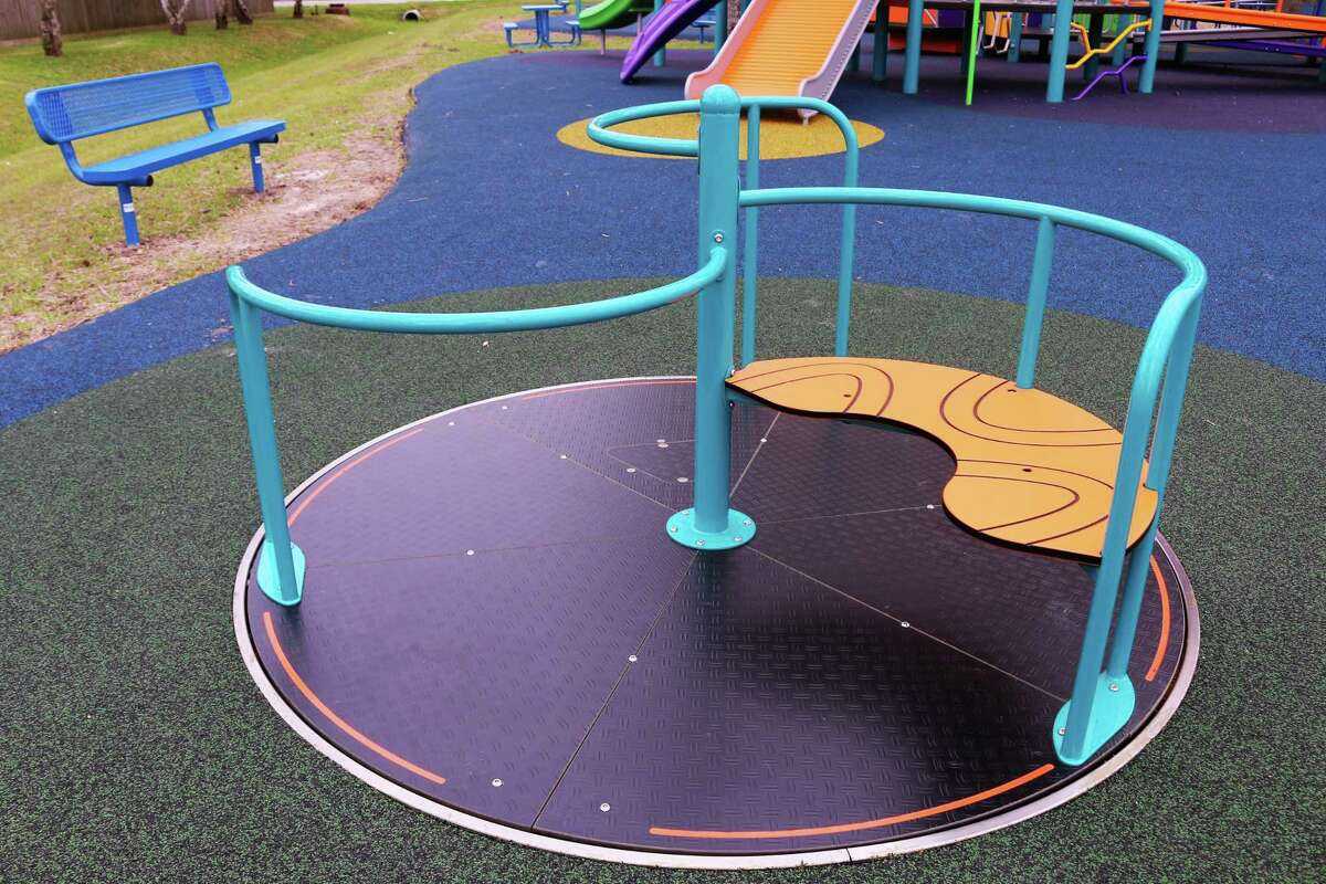 Harris County Precinct 2's Olson Park has a roundabout that can be accessed via wheelchair.