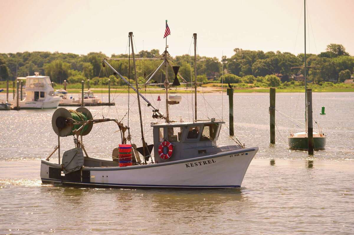 A commercial fishing vessel is moored at Lang Dock at Lobster Landing in Clinton in this archive picture