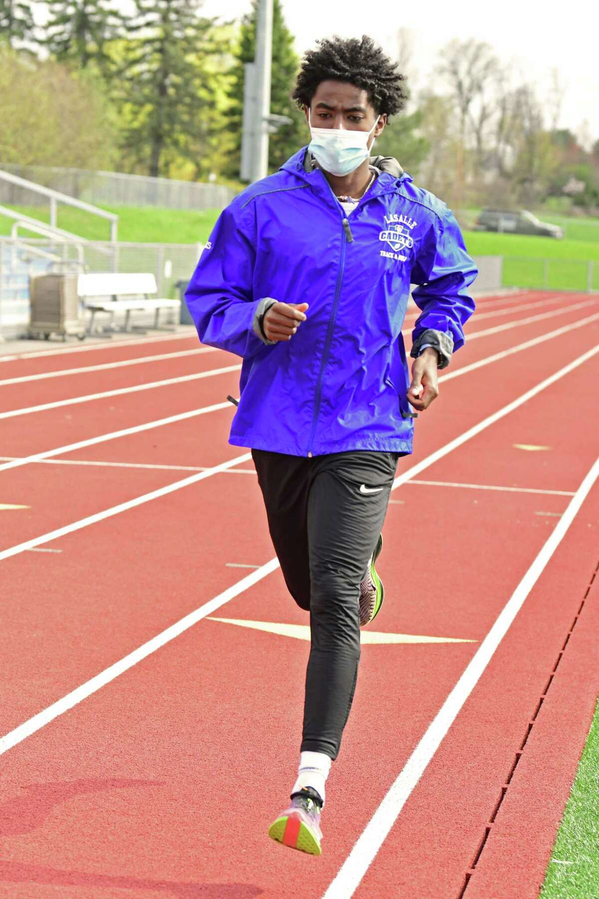 La Salle's Gitch Hayes said the 1,600 is his best event. He led Section II in the event, running 4:17.95.