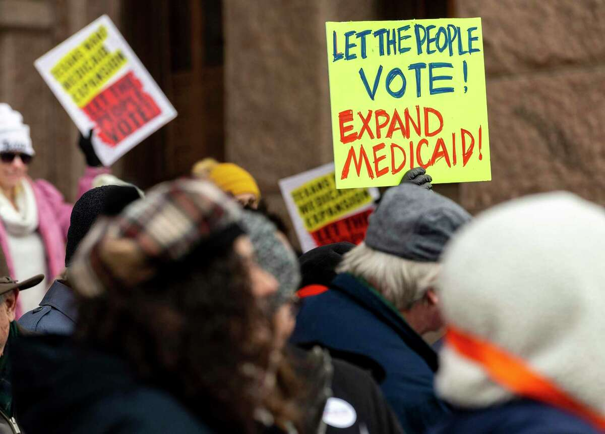 A rally to expand Medicaid at the Capitol, Monday, March 4, 2019.
