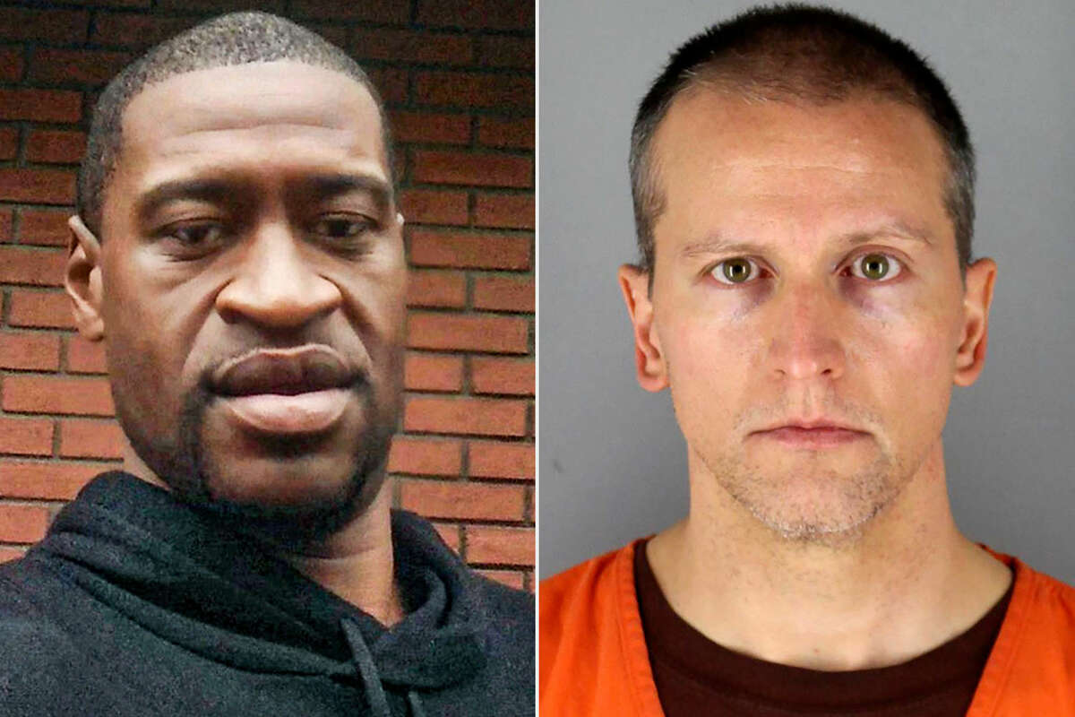 (From left to right) George Floyd, and former Minneapolis police officer Derek Chauvin.