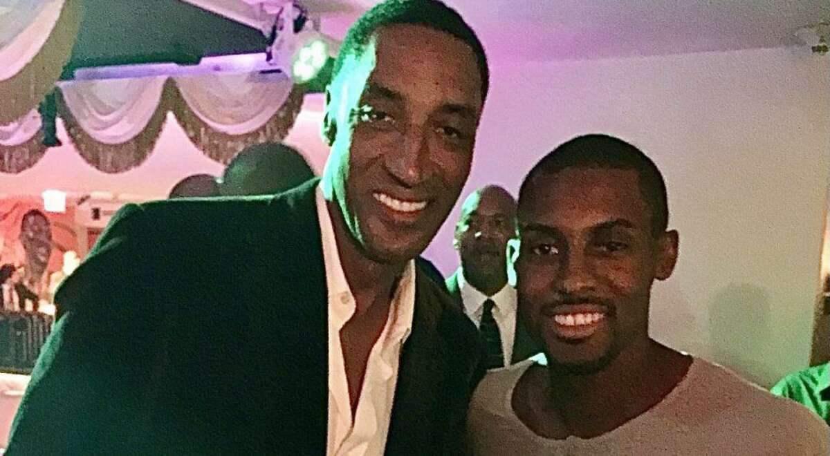 NBA Hall of Famer Scottie Pippen, left, announced the death of his oldest son Antrel Pippen on Monday, April 19.