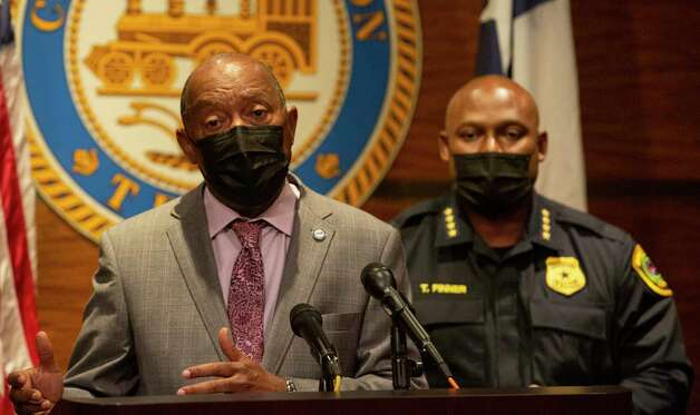 """Houston Mayor Sylvester Turner says the justice has been served but this is not the time to call """"mission accomplished"""" during a press conference in reaction to Derek Chauvin was found guilty of all three charges in the murder of George Floyd Tuesday, April 20, 2021, at Houston City Hall in Houston. """"The Floyd family has waited for almost a year for this verdict, but I will quickly say that they will experience the loss of their loved one, George, for the rest of their lives,"""" Turner said. Photo: Yi-Chin Lee, Staff Photographer / © 2021 Houston Chronicle"""