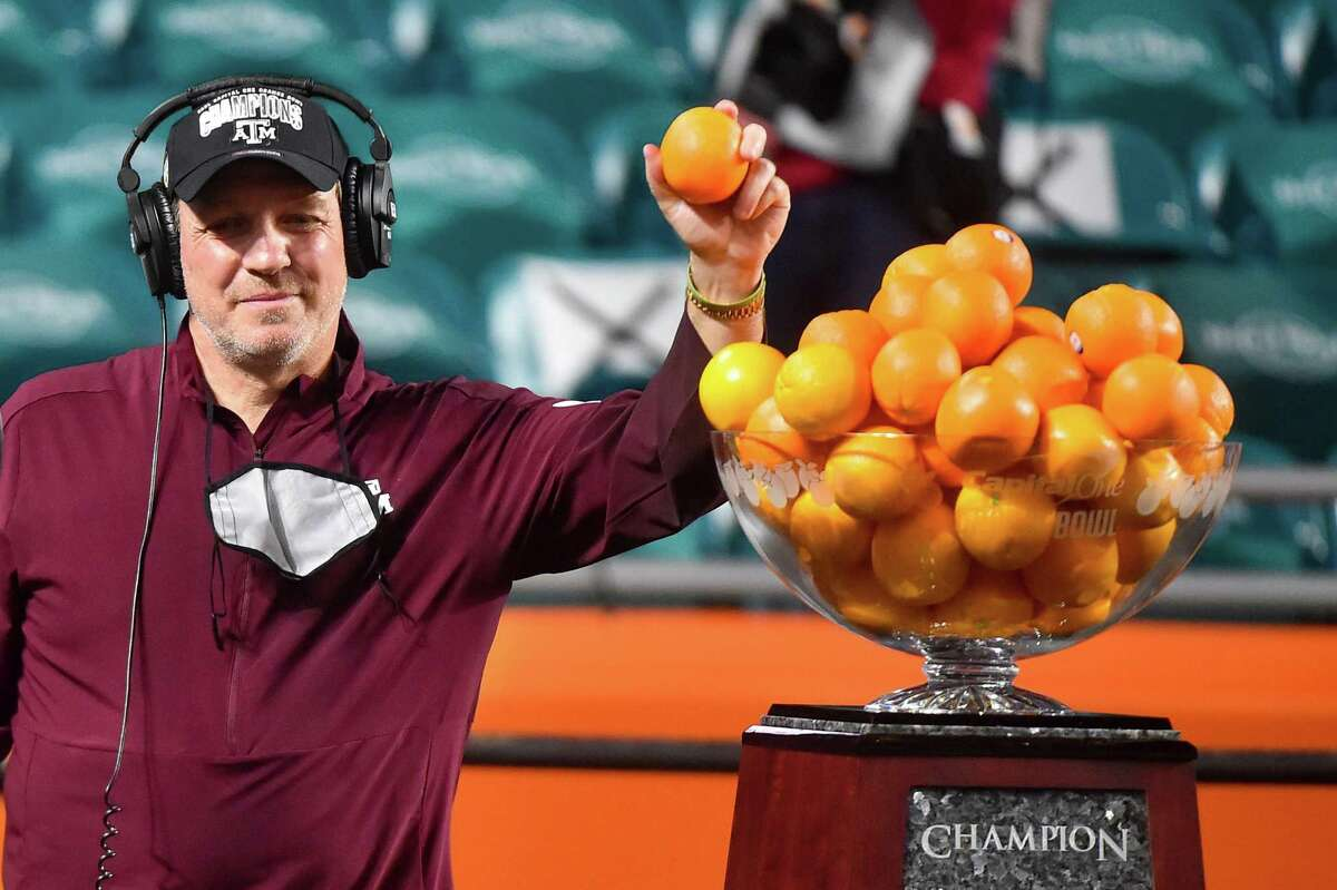 Texas A&M coach Jimbo Fisher, whose Aggies capped a 10-1 campaign with an Orange Bowl victory in January, will return nine starters on defense next season.