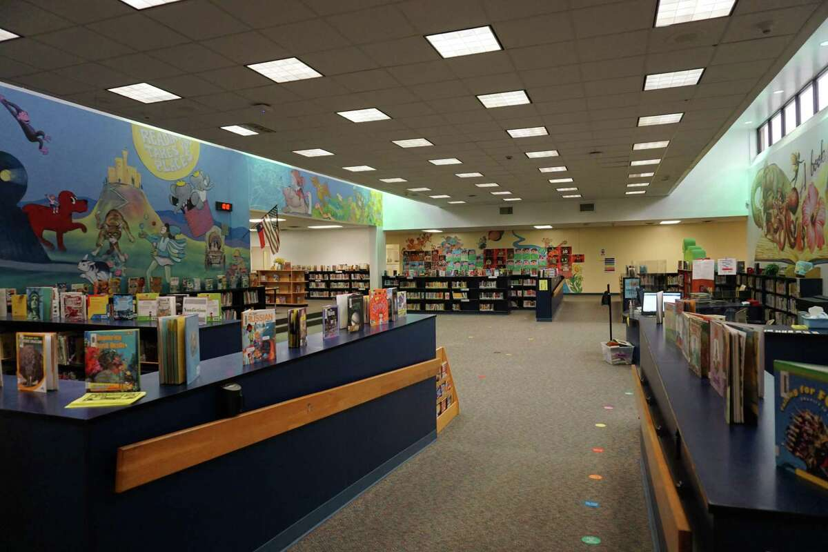 The library at Winborn Elementary in Katy was built in 1981 as an open concept, which create distractions for students trying to learn. If Katy Independent School District voters approve Proposition A of the 2021 bond, the library would have more walls.