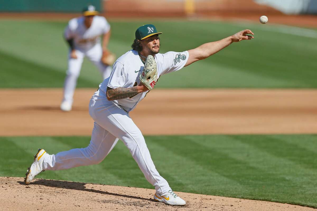 Oakland Athletics pitcher Sean Manaea threw a complete-game six-hitter in Tuesday's 7-0 Game 1 win against the Twins.