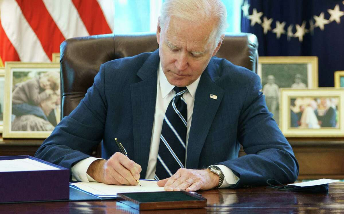 A key provision of President Joe Biden's plan prohibits local governments from using the funds for tax cuts.