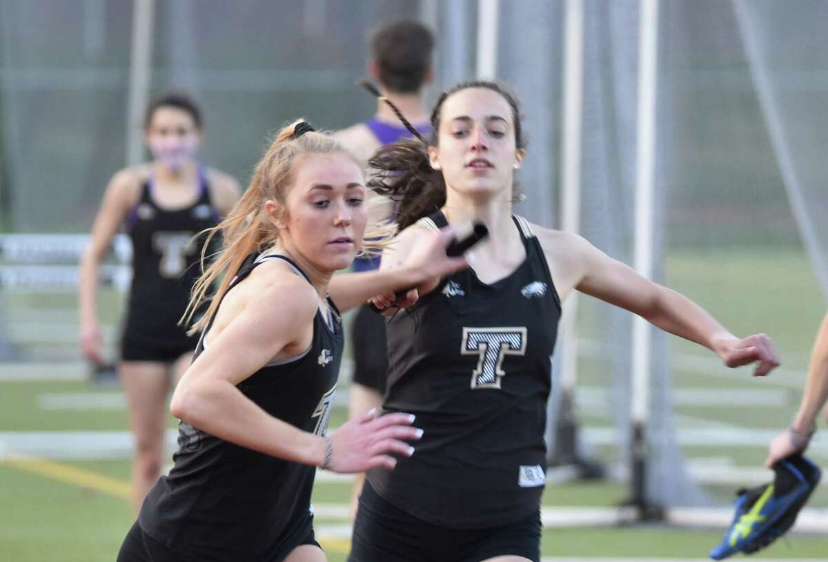 Junior Kali Holden won the 1600 and 3200 meters, and ran the anchor of the Eagles' 4x400 meter relay team in the victory against Westhill.
