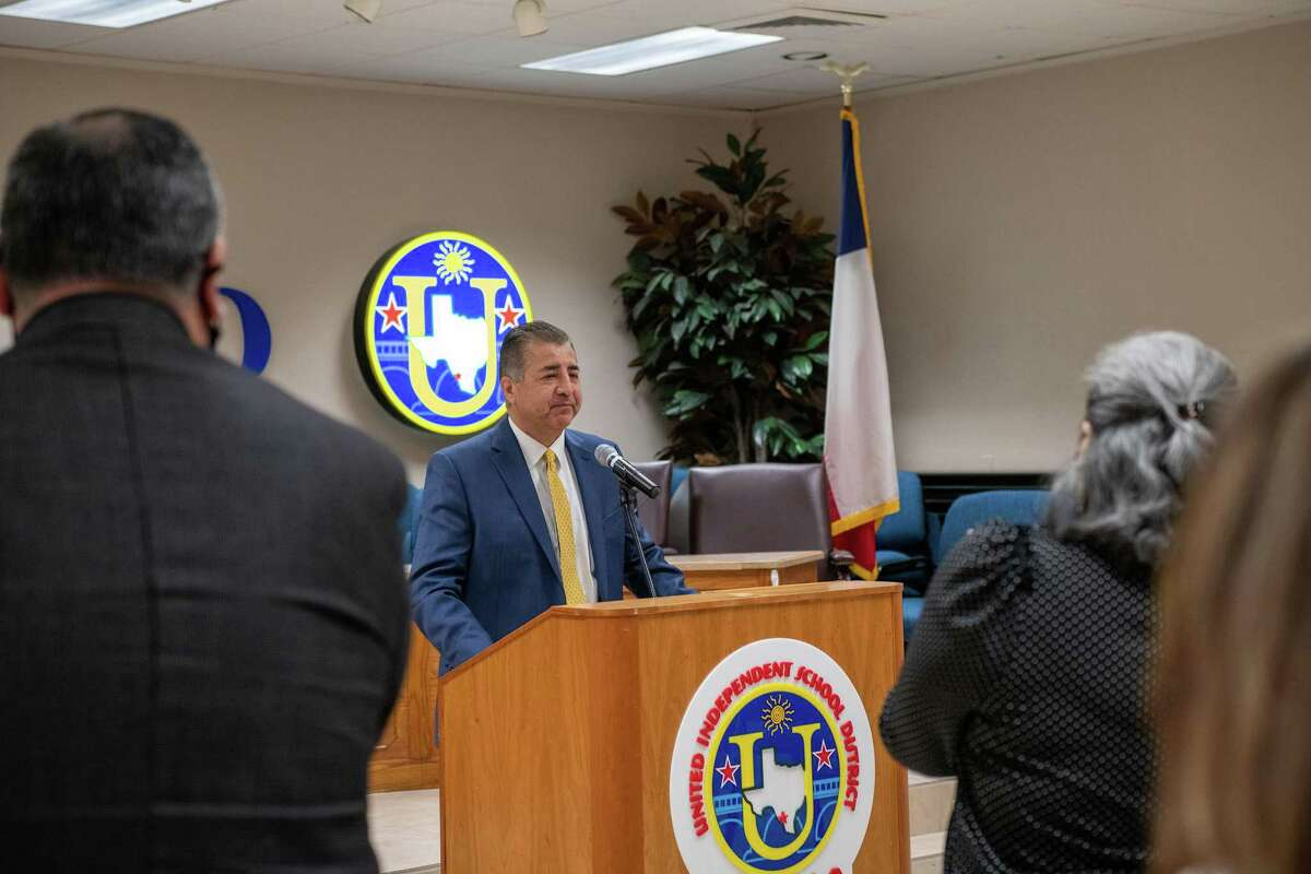 UISD's David Gonzalez, Asst. Superintendent of Curriculum and Instruction answered questions and spoke about his thoughts as the lone finalist in the district's search for a new superintendent on Tuesday, April 20, 2021.