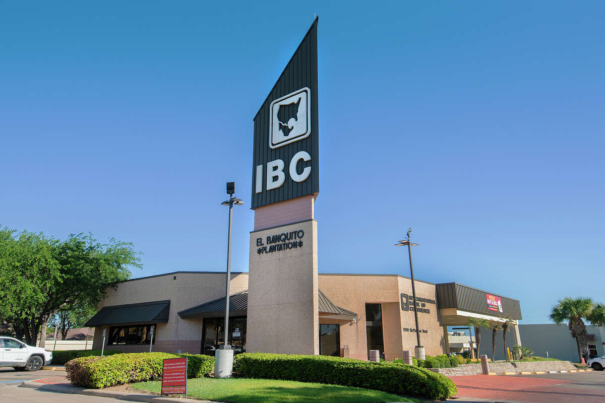 Exterior view of IBC Bank's McPherson location as seen, Tuesday, April, 20, 2021.