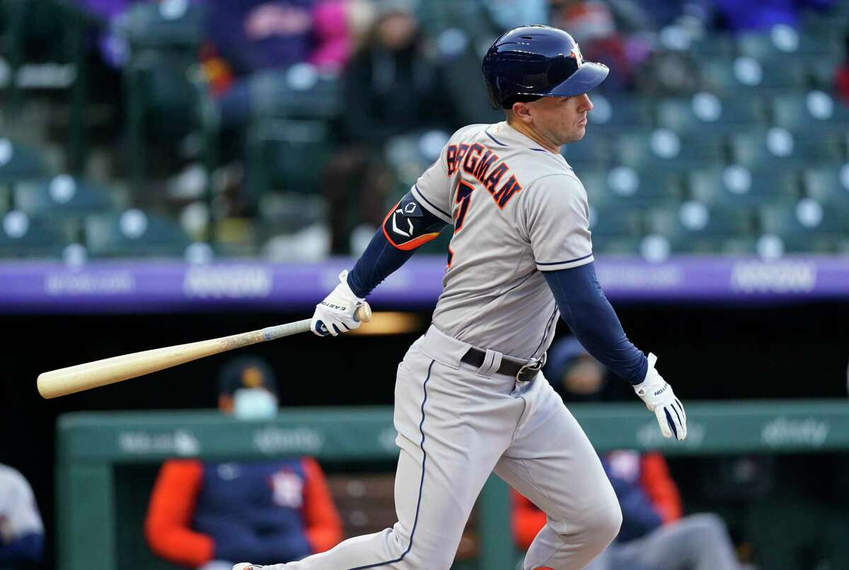 In his return to the lineup, Alex Bregman grounded into two double plays as the Astros lost their series opener to the Rockies.