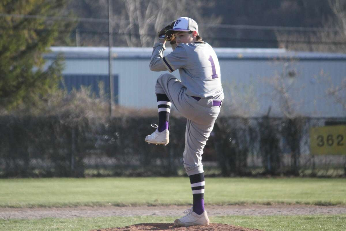The Frankfort Panthers sweep the Buckley Bears in a Northwest Conference baseball doubleheader on April 20.