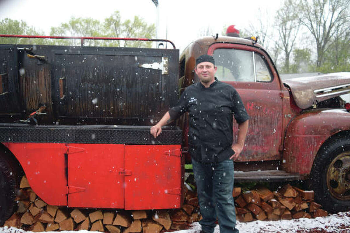Buddy Fore, owner of My Buddy's BBQ, has adapted an old fire truck into a new smoker.