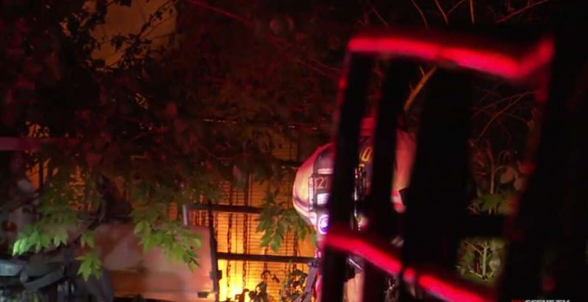 Flames broke out at a trailer early Wednesday in Kashmere Gardens, killing one woman inside. Investigators are working to determine the cause.