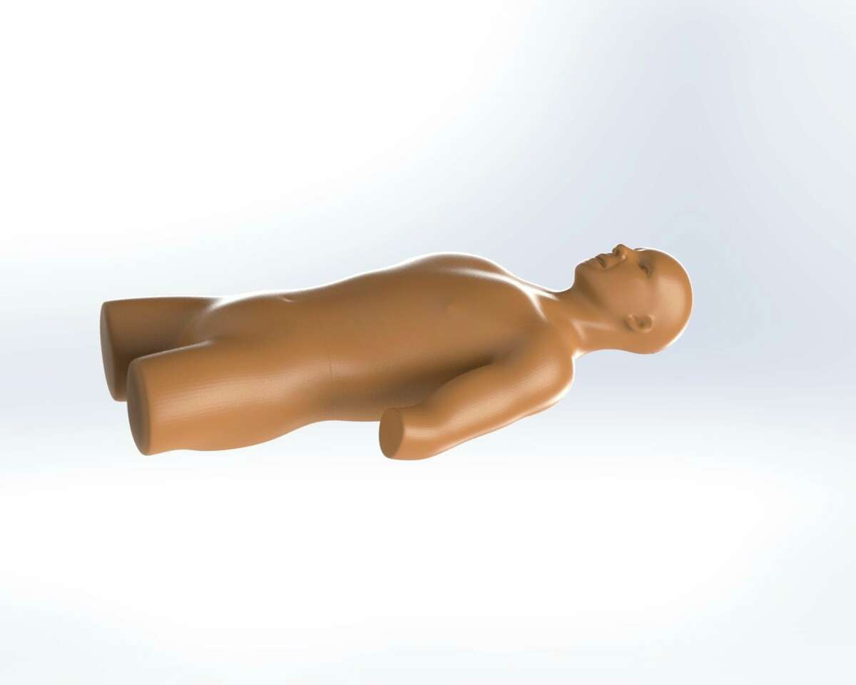Ferris State University's goal was to offer nursing students a portable trainer more similar to the classroom's mannequins and simulate a patient's head, torso, pelvic region, and upper arm. (Courtesy photo)