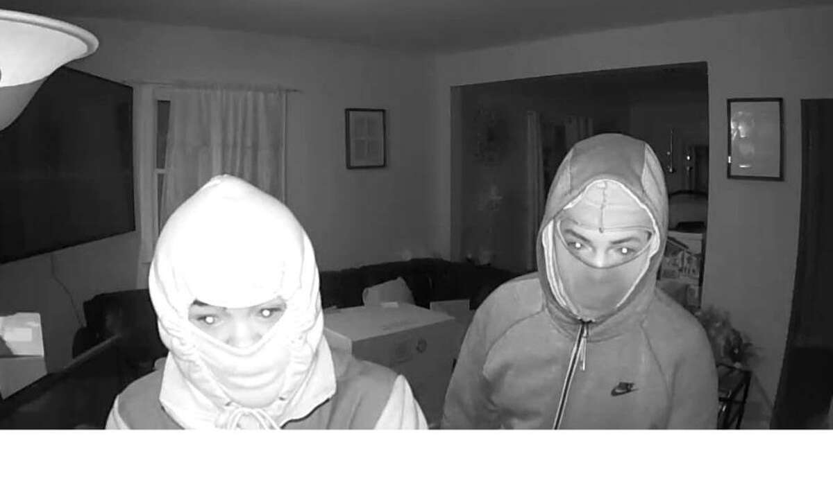 Stamford police are asking for the public's help identifying these two individuals, who are suspects in a home burglary that happened on April 4, 2021.