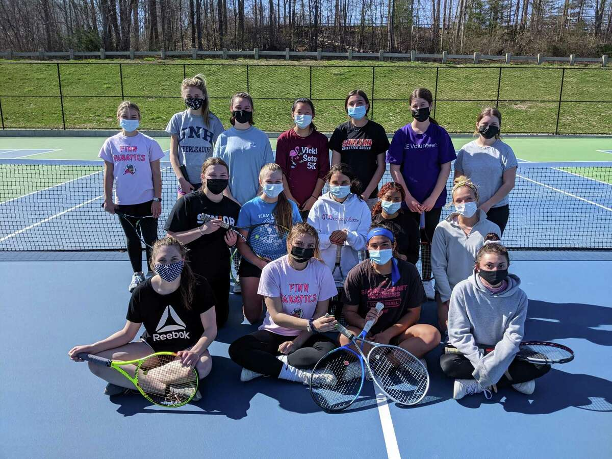 Shelton girls' tennis team is taking the court for the 20th time since the program began in 2001. Team members for coach Michelle Sedlock (front row) are: Katrina Hatfield, co-captain Kassidy Wojtowicz, co-captain Jessica Jayakar and Jasmine Rosetti; (kneeling) Claire Foley, Carolyn Maher, Emily Caccillo, Samantha McCook and Nell Komorowski; (standing) Katie Bergers, Lily May, Rachel Morrow, Emily Ahern, Sophia Fede, Emily Carlin and Sophia Fabian. Izzy Acerveda is missing from photo. Caitlin Pineau, Mia Kmetz and Ciara Foley are team managers.