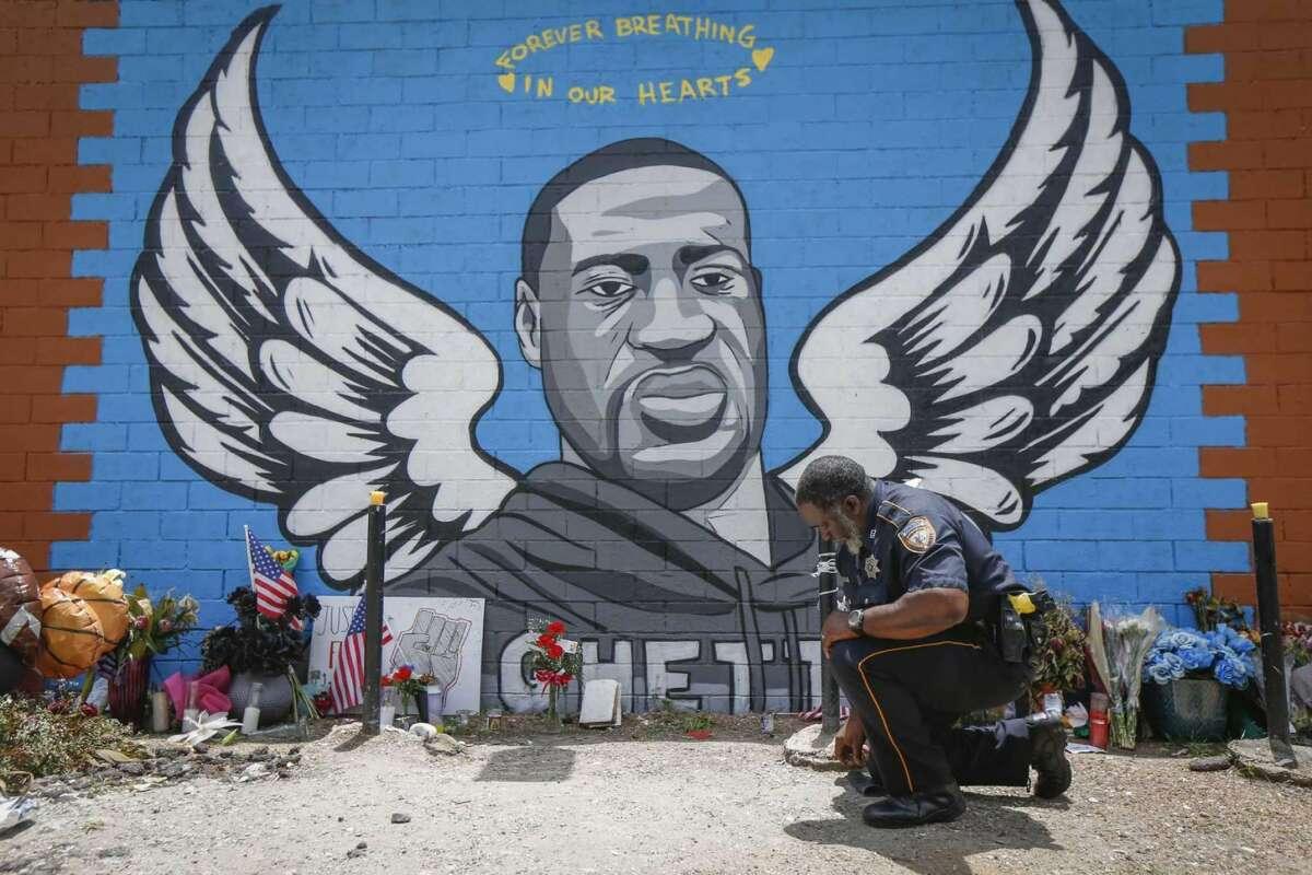 George Floyd mural in Houston, Texas.