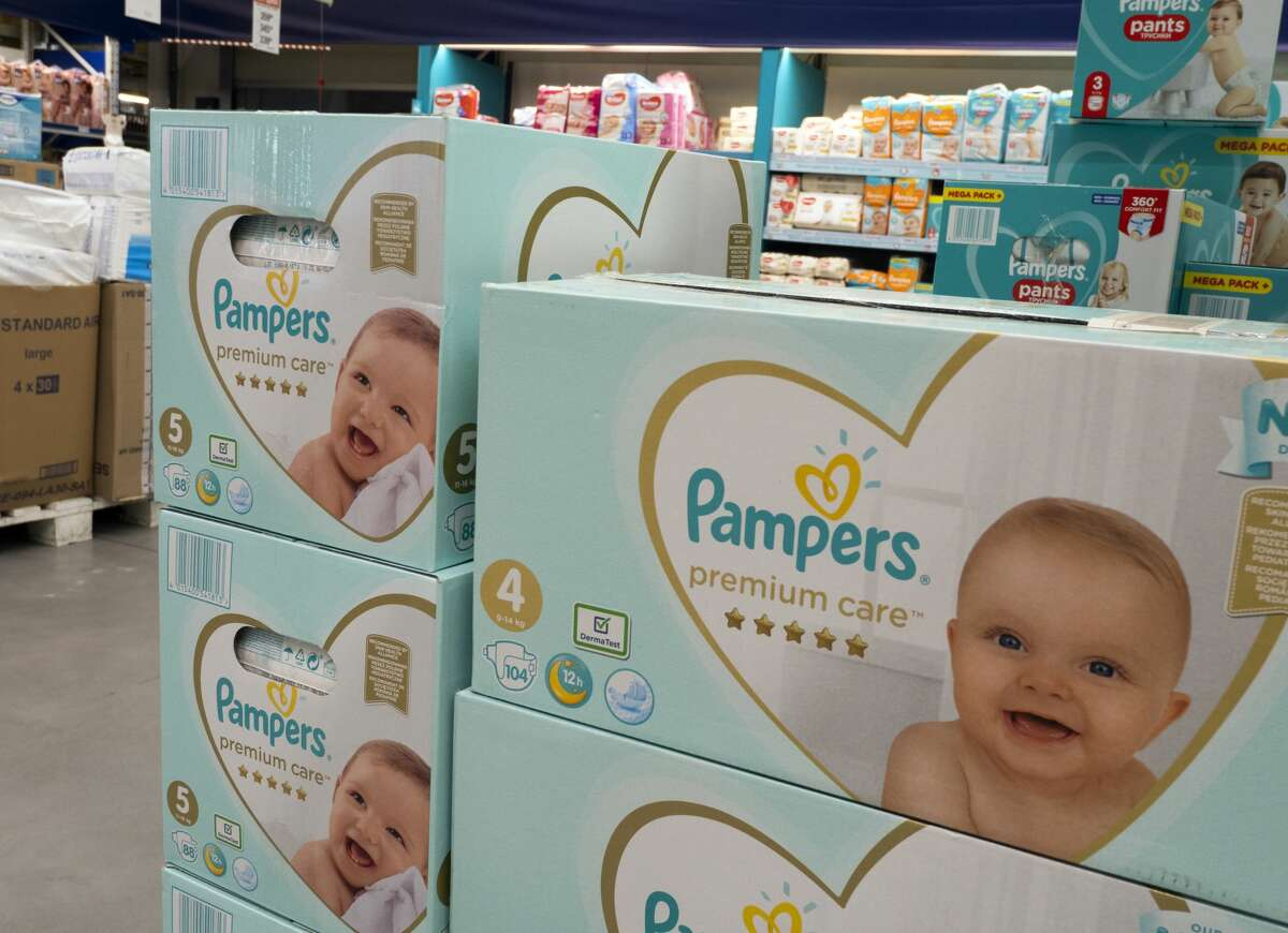 Baby and Toddler pampers seen displayed in a supermarket store. (Photo by Igor Golovniov/SOPA Images/LightRocket via Getty Images)