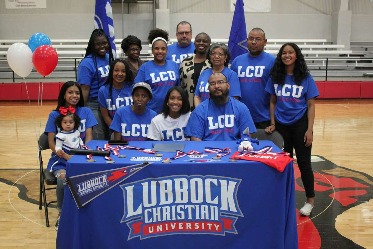 Lockney's Jayda Rosales signed her letter of intent to continue her track and field career at Lubbock Christian University on Tuesday at Lockney High School. Rosales will compete in the long jump and triple jump at LCU. Rosales is a multi-time region qualifier in each event.