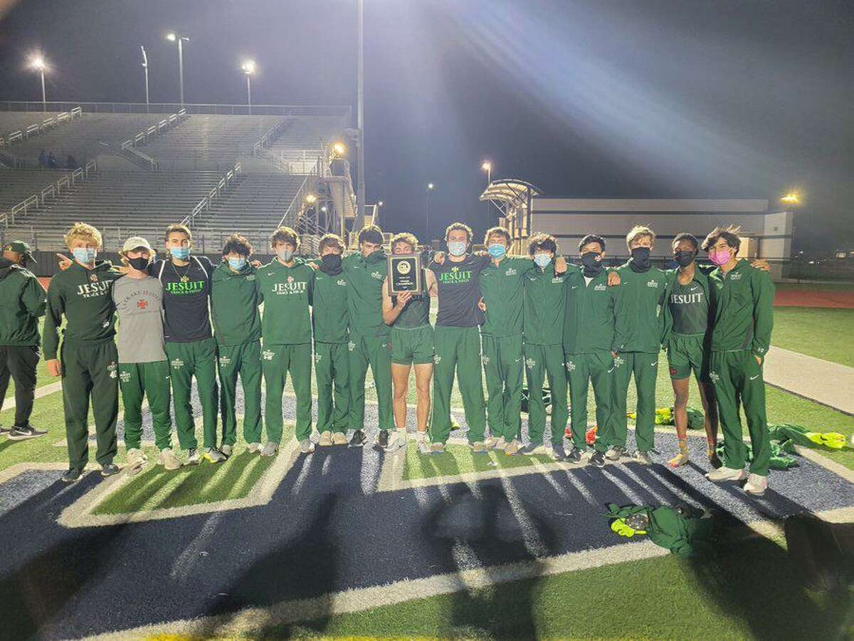 The Strake Jesuit track and field team won the District 23-6A/24-6A area track championship April 15 at Pearland ISD Stadium. The Crusaders qualified 11 athletes for the Region III-6A championships.