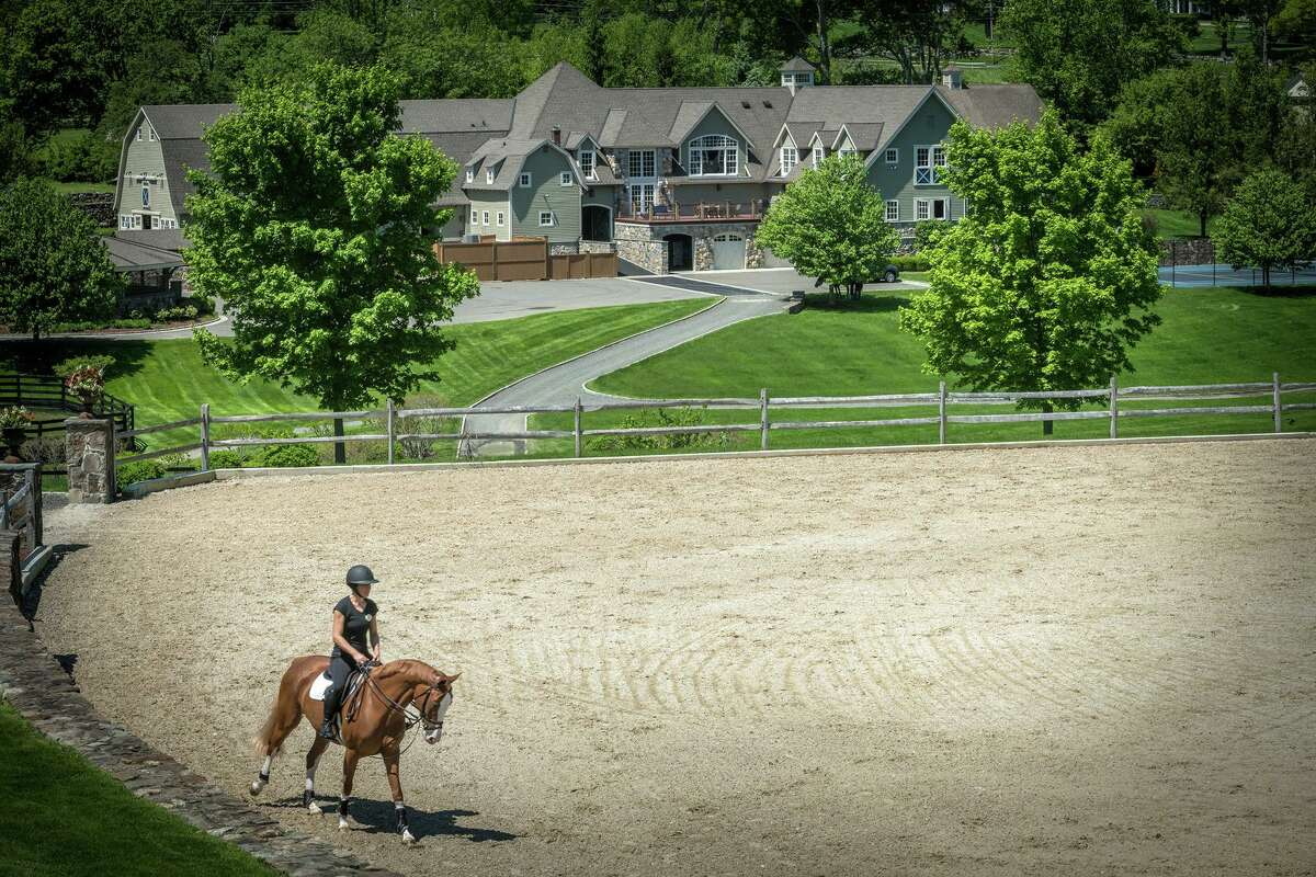 An 87-acre home and equestrian facility in Ridgefield that was on the market recently for $33 million.