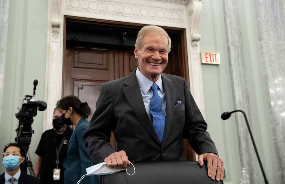 Bill Nelson, a former Democratic senator from Florida and President Joe Biden's nominee for NASA administrator, arrives for a Senate Commerce, Science and Transportation Committee confirmation hearing in Washington, D.C., U.S., on Wednesday, April 21, 2021. Nelson had served as the chairman and ranking member of the Senate subcommittee that oversees NASA. Photographer: Saul Loeb/AFP/Bloomberg