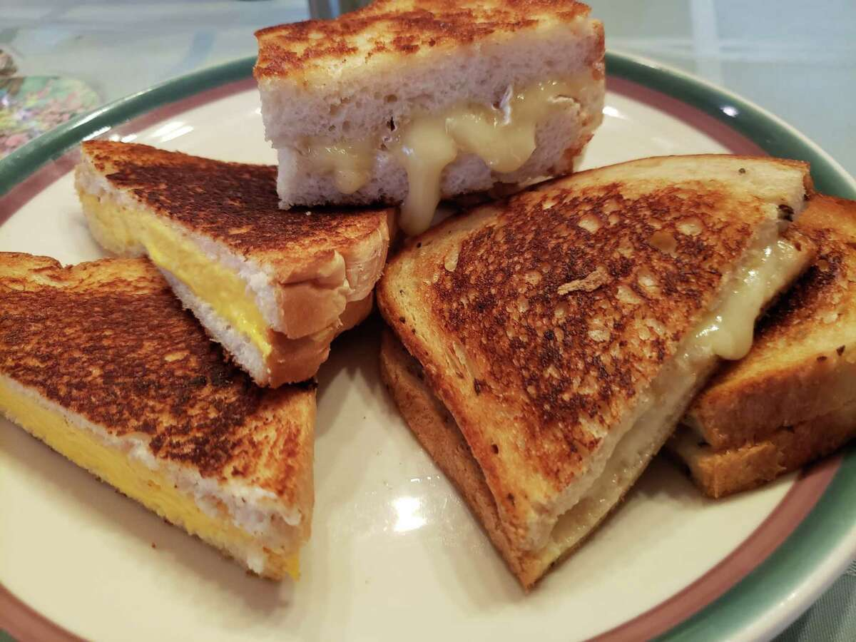 A platter of grilled cheese sandwiches for Sunday supper.