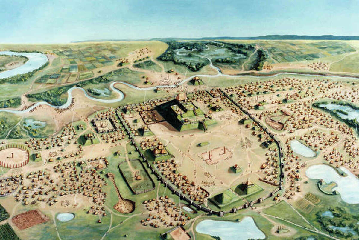 Cahokia, near present-day St. Louis, was the largest prehistoric city in North America at its peak by 1150 A.D. It is well known for its mounds, including the prominent Monks Mound. Legislation to make the site part of the National Park System has been introduced at the federal level.