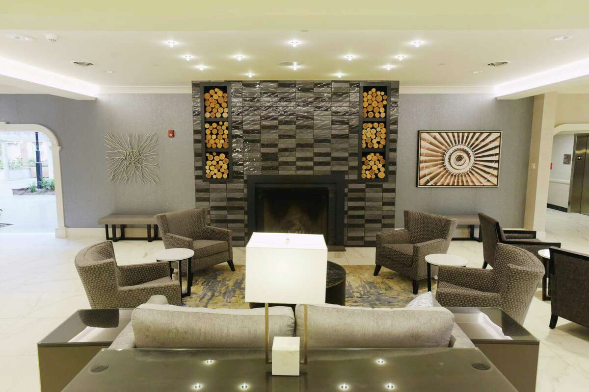A view of the new lobby at the Crowne Plaza Albany - The Desmond Hotel on Wednesday, April 21, 2021, in Albany, N.Y. (Paul Buckowski/Times Union)