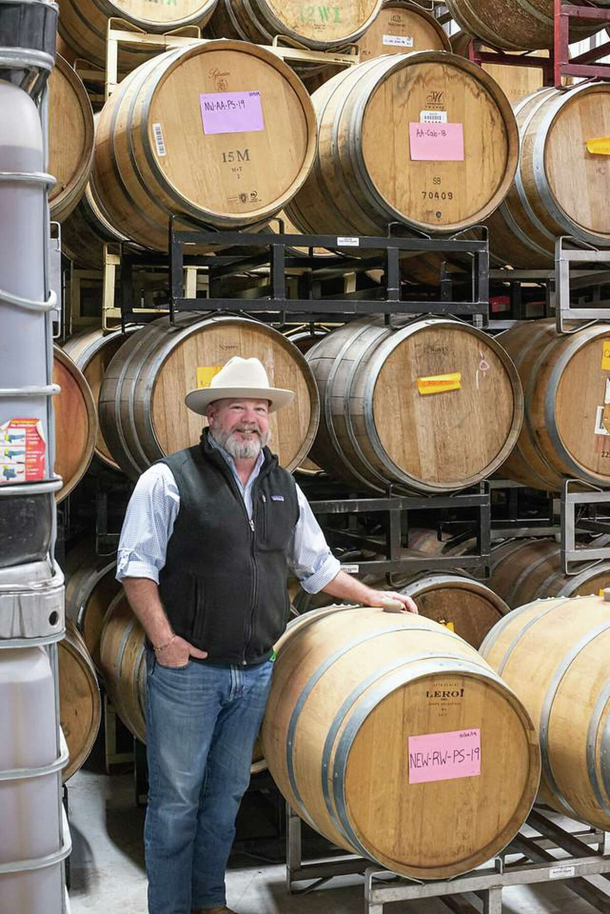John Rivenbaugh is one of Texas' leading forces in leading the Nation in the making of World-Class Tannat Wines. This native Texan is imparting his knowledge of making award-winning wines to fledgling winemakers, currently working with 15 winery upstarts in Texas, including the Houston Heights.