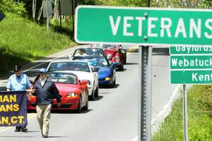 Sherman's Memorial Day parade proceeds down Route 39 North in 2015.