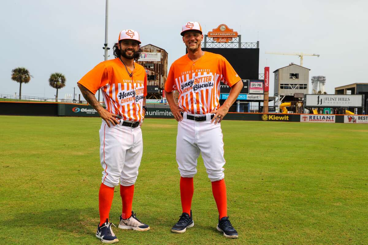 The Corpus Christi Hooks, a Double-A affiliate of the Houston Astros, announced it is ditching its normal look every Wednesday this season for an orange-and-white Whataburger uniform.