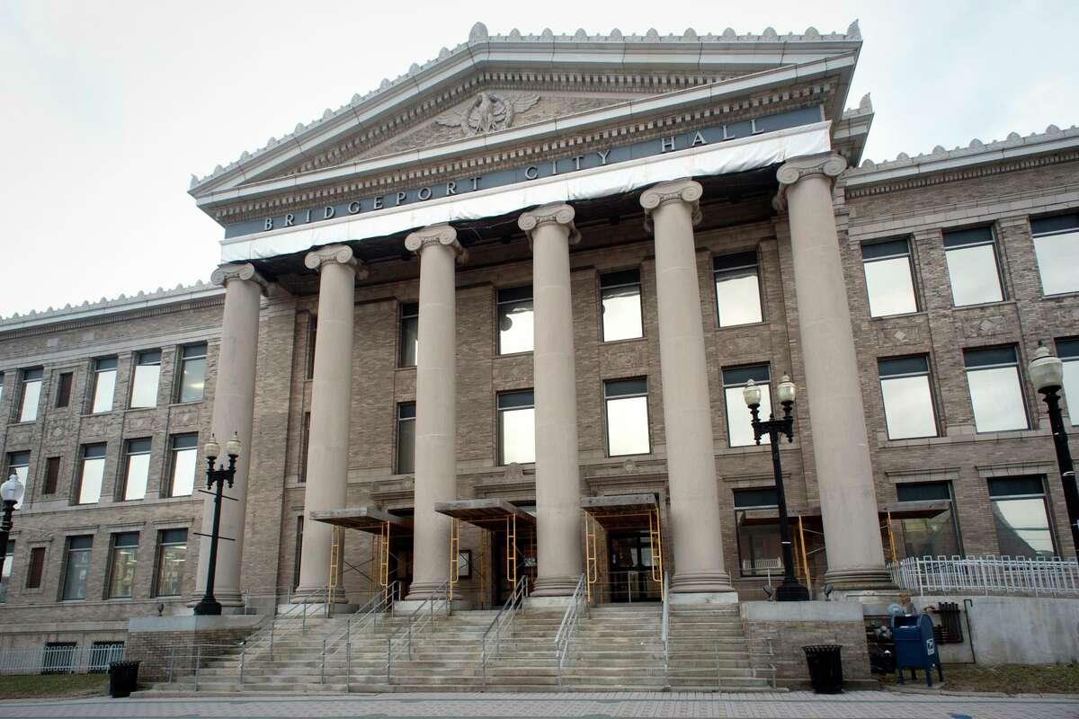 Exterior, Bridgeport City Hall in Bridgeport, Conn.