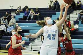 Brethren's Elly Sexton averaged a double-double for the Bobcats in her freshman season. (News Advocate file photo)