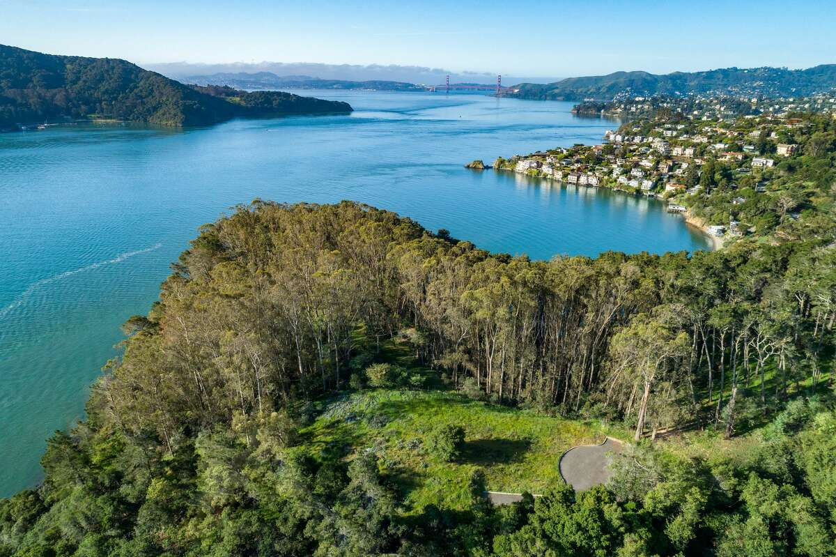 The aerial of the property gives a sense where structures would be built as well as the setting they would enjoy.