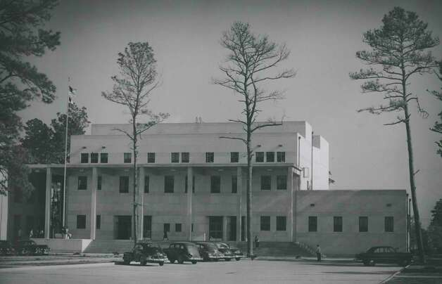 Part of a $2,500,000 administration-classroom building at Texas Southern University is shown in this photo from Aug. 23, 1951. The auditorium's seating capacity was 1,800. Photo: Houston Chronicle File