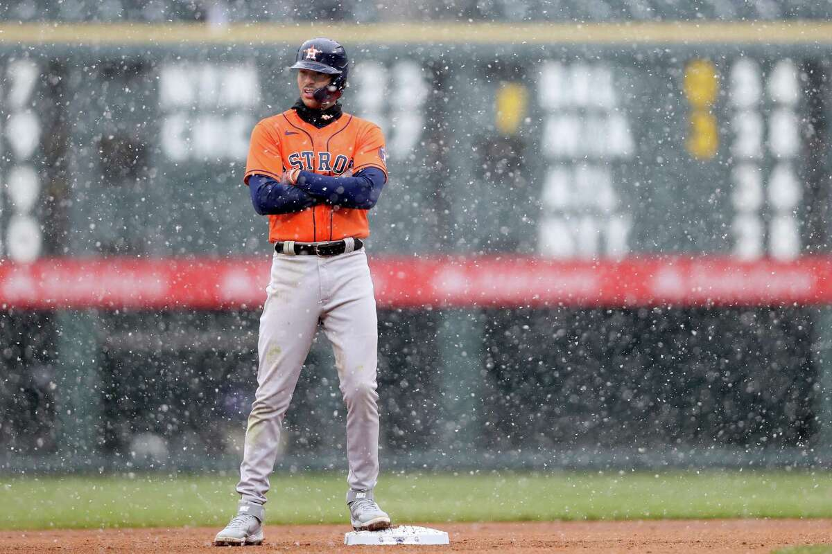 Say it isn't snow, Carlos Correa, but for a variety of reasons, the Astros reside in last place after Wednesday's numbing 6-3 loss to the Rockies.