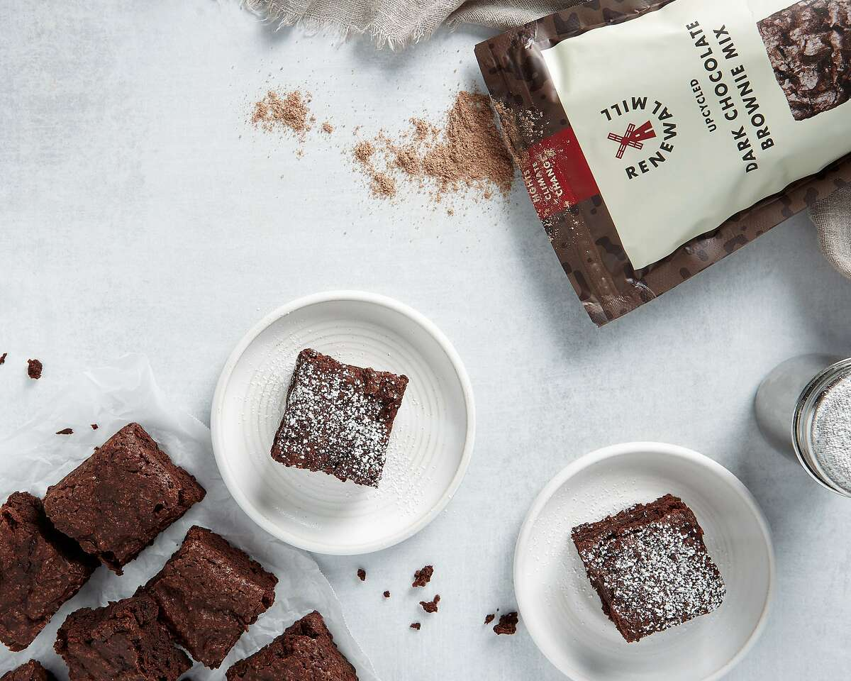 Renewal Mill makes brownie mix with okara flour, which is made from a byproduct of the tofu-making process.