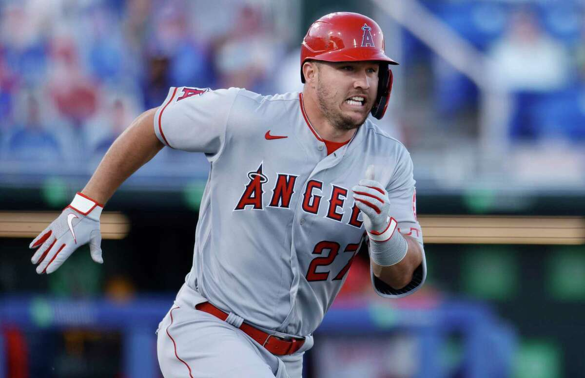 To no one's surprise, Angels superstar Mike Trout is leading the majors in on-base percentage and the American League in batting average and slugging.
